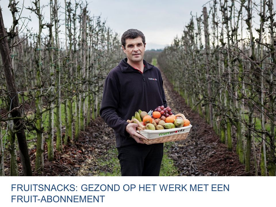 FRUITSNACKS: GEZOND op het werk met een fruit-abonnement