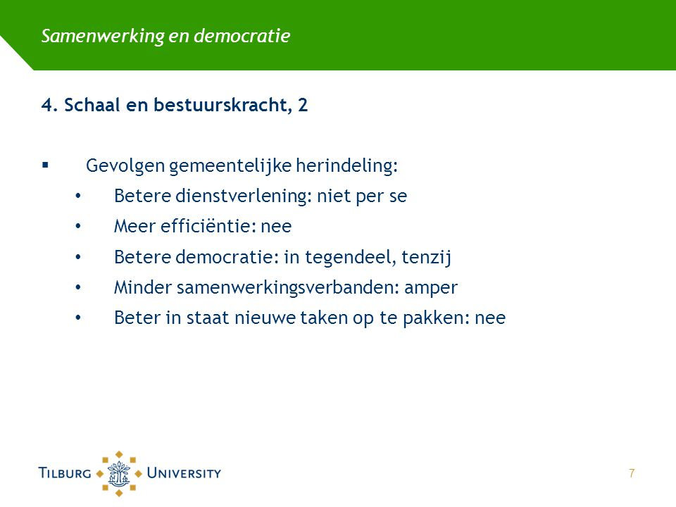 Samenwerking en democratie