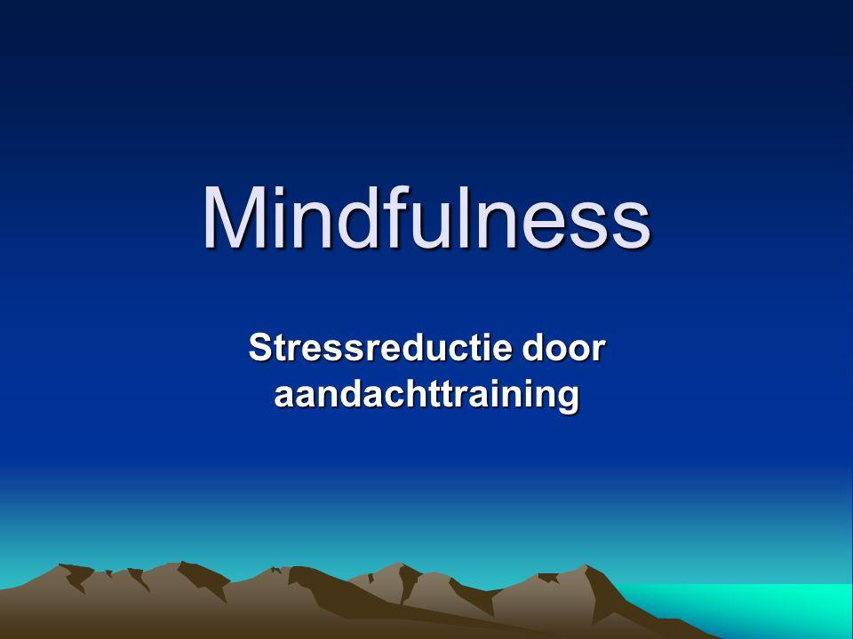 Stressreductie door aandachttraining