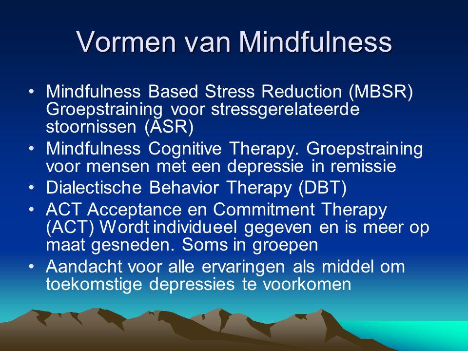 Vormen van Mindfulness
