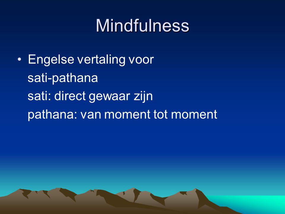 Mindfulness Engelse vertaling voor sati-pathana