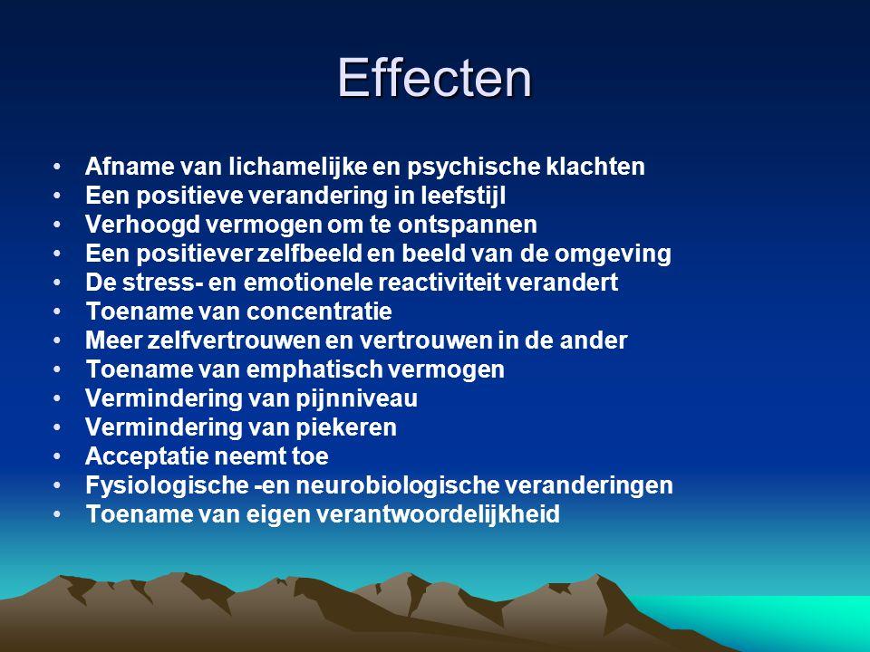 Effecten Afname van lichamelijke en psychische klachten