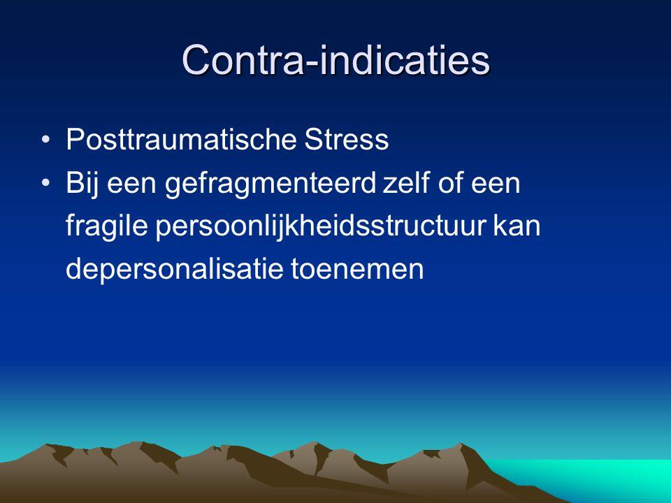 Contra-indicaties Posttraumatische Stress