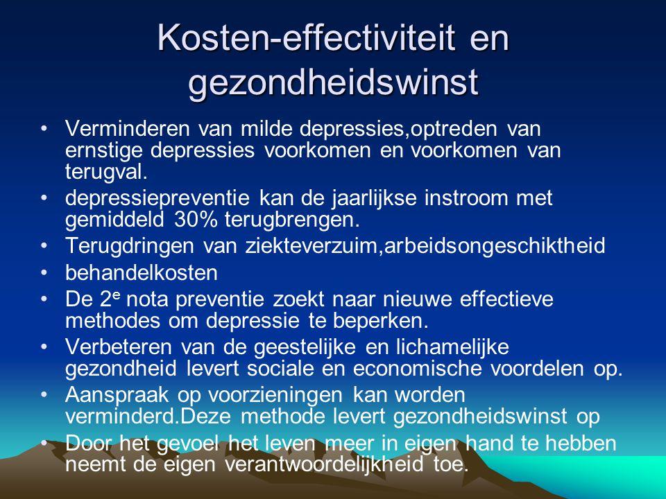 Kosten-effectiviteit en gezondheidswinst