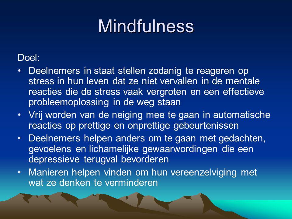 Mindfulness Doel: