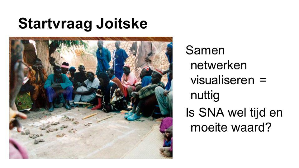 Startvraag Joitske Samen netwerken visualiseren = nuttig