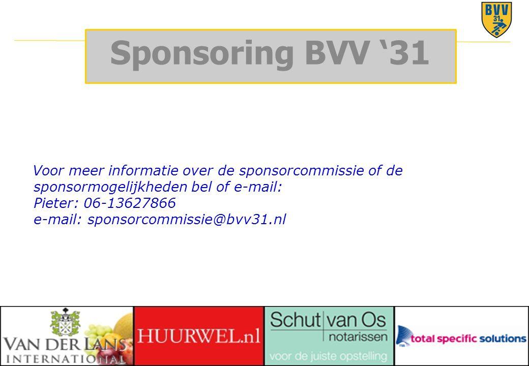 Sponsoring BVV '31