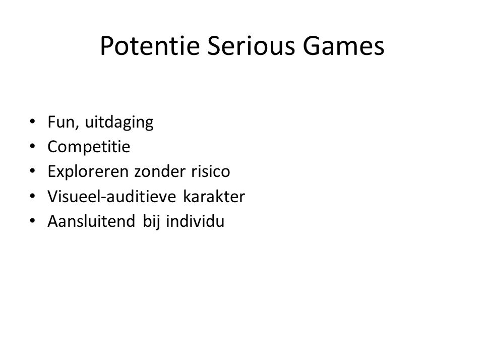 Potentie Serious Games