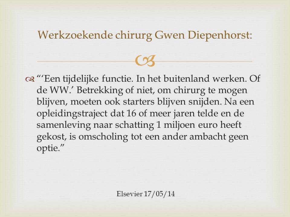 Werkzoekende chirurg Gwen Diepenhorst: