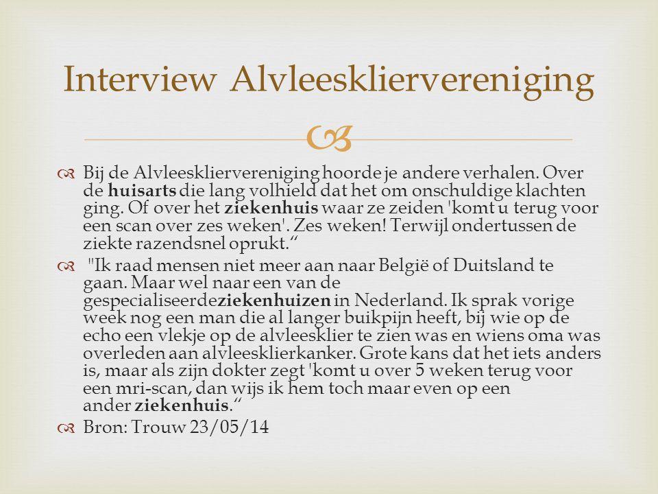 Interview Alvleeskliervereniging
