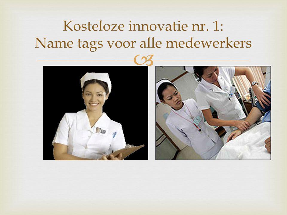 Kosteloze innovatie nr. 1: Name tags voor alle medewerkers