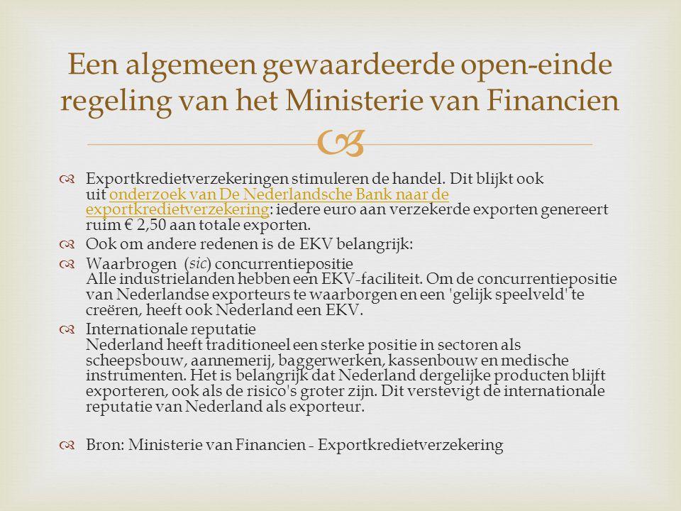 Een algemeen gewaardeerde open-einde regeling van het Ministerie van Financien