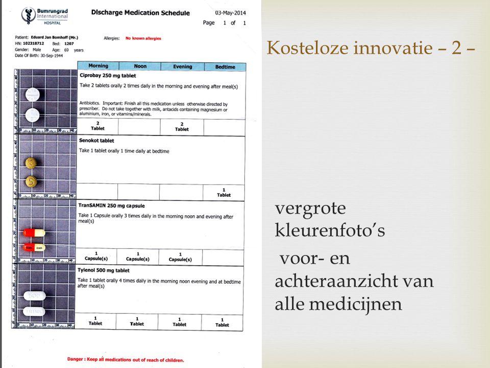 Kosteloze innovatie – 2 –