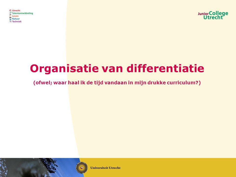 Organisatie van differentiatie