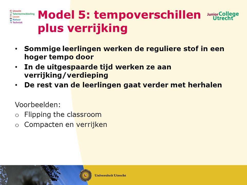 Model 5: tempoverschillen plus verrijking