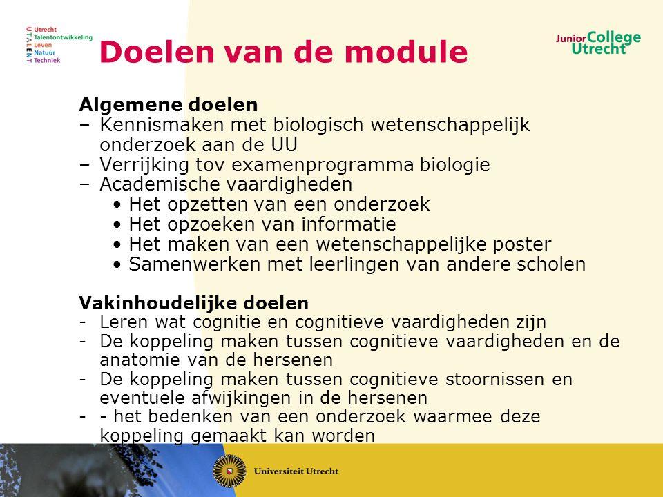 Doelen van de module Algemene doelen