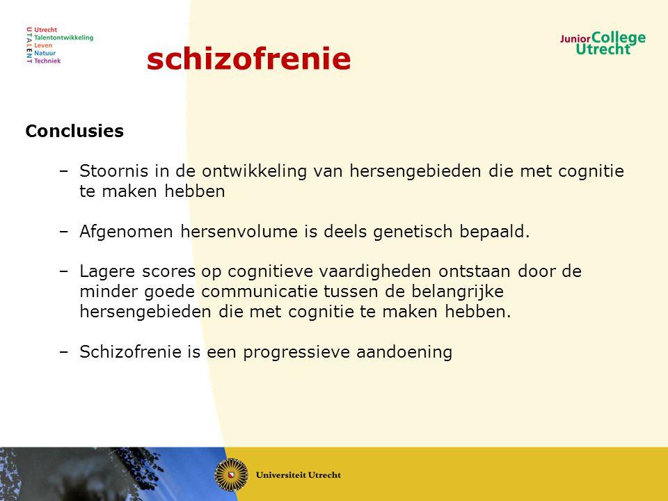 schizofrenie Conclusies