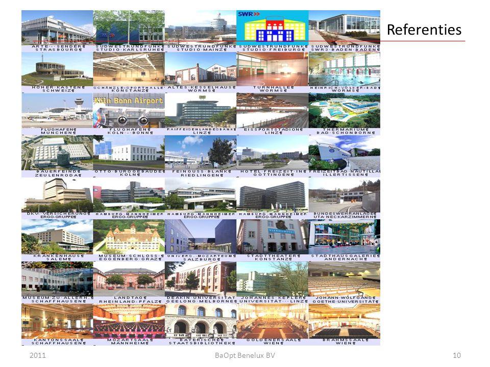 Referenties Einführung 2011 BaOpt Benelux BV
