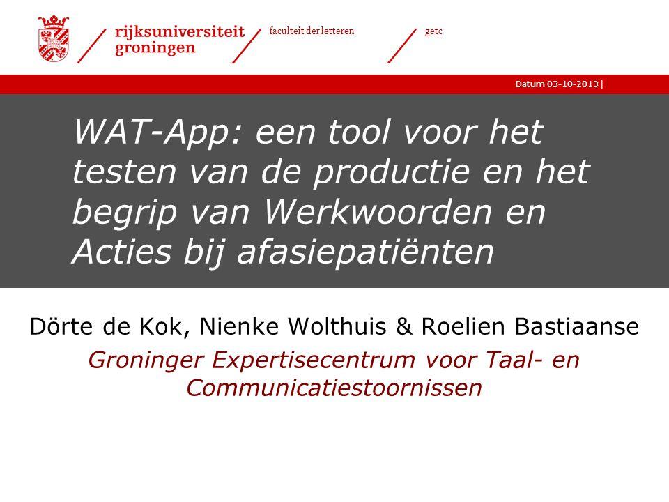 WAT-App: een tool voor het testen van de productie en het begrip van Werkwoorden en Acties bij afasiepatiënten