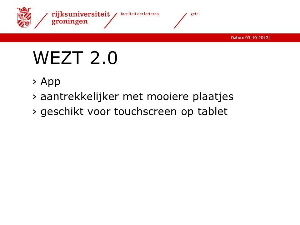 WEZT 2.0 App aantrekkelijker met mooiere plaatjes