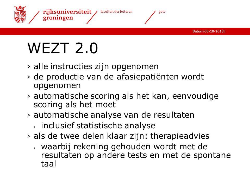 WEZT 2.0 alle instructies zijn opgenomen