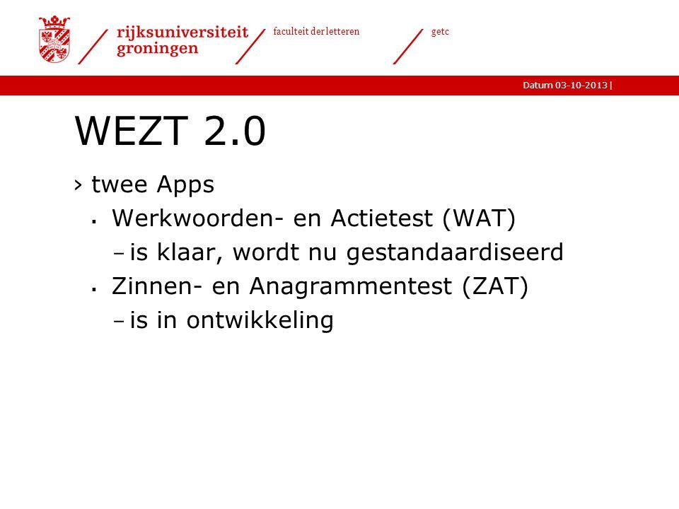 WEZT 2.0 twee Apps Werkwoorden- en Actietest (WAT)