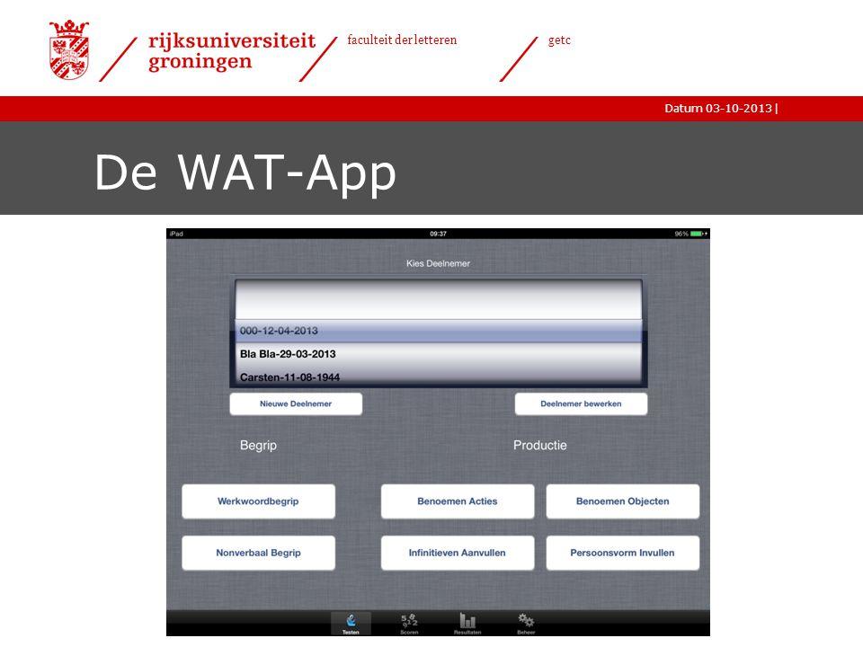 De WAT-App