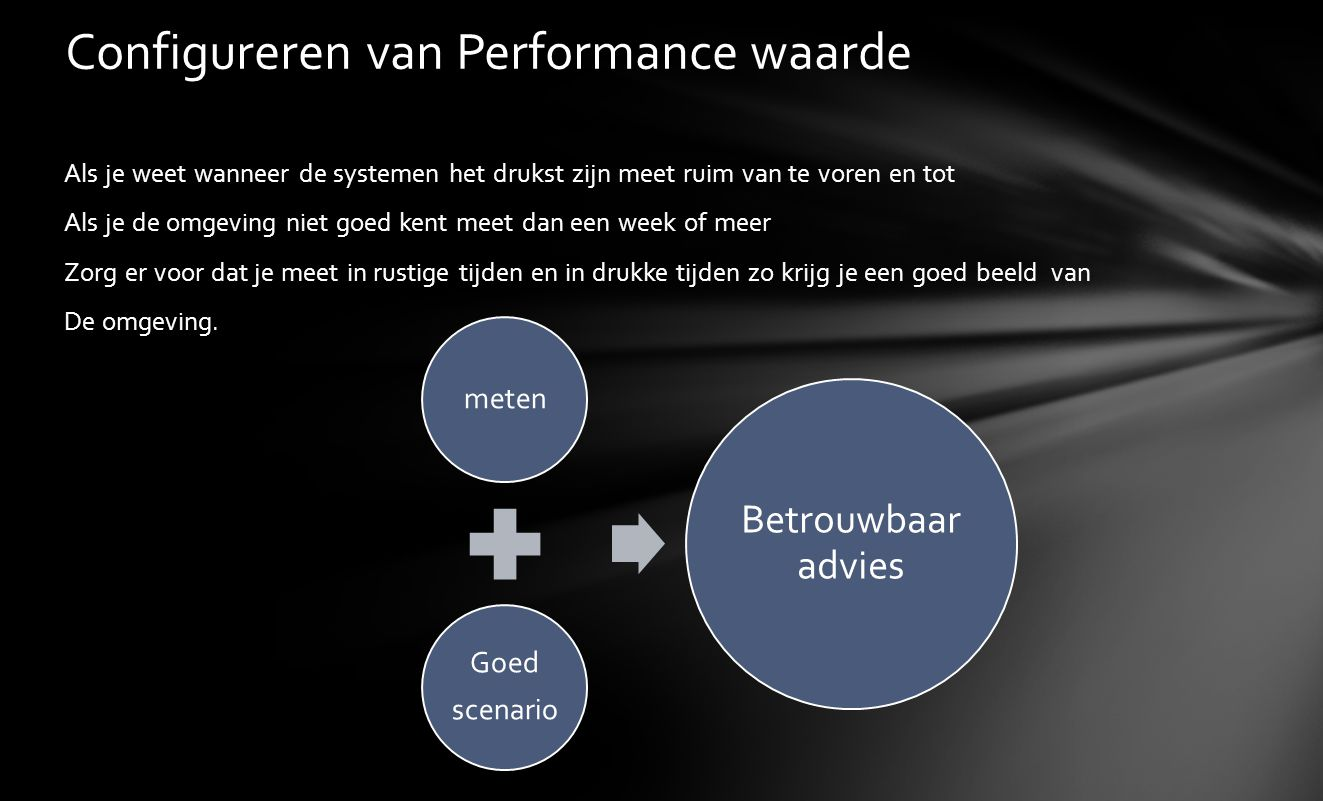 Configureren van Performance waarde