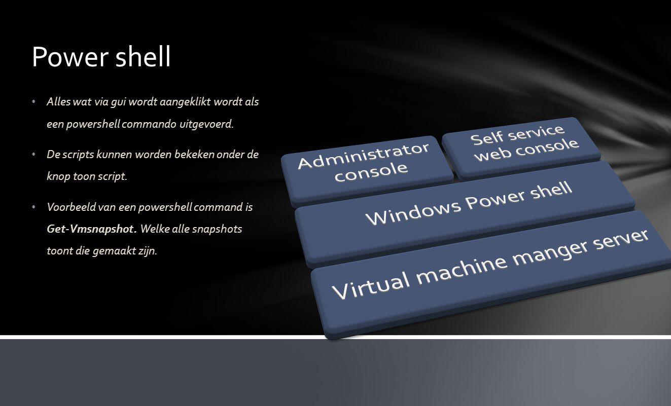 Power shell Alles wat via gui wordt aangeklikt wordt als een powershell commando uitgevoerd.