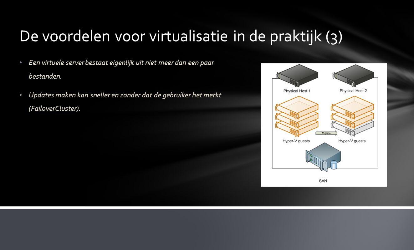 De voordelen voor virtualisatie in de praktijk (3)