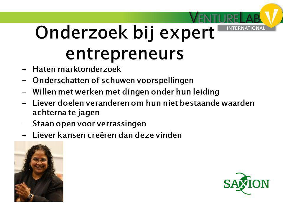 Onderzoek bij expert entrepreneurs