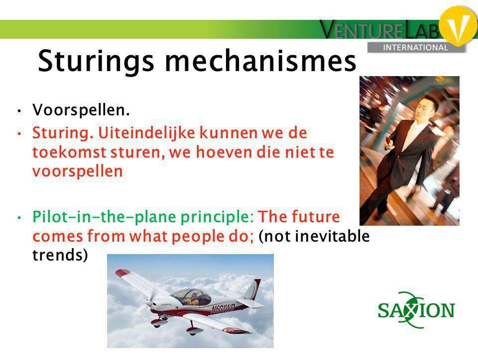 Sturings mechanismes Voorspellen.
