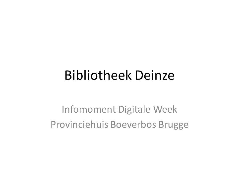 Infomoment Digitale Week Provinciehuis Boeverbos Brugge