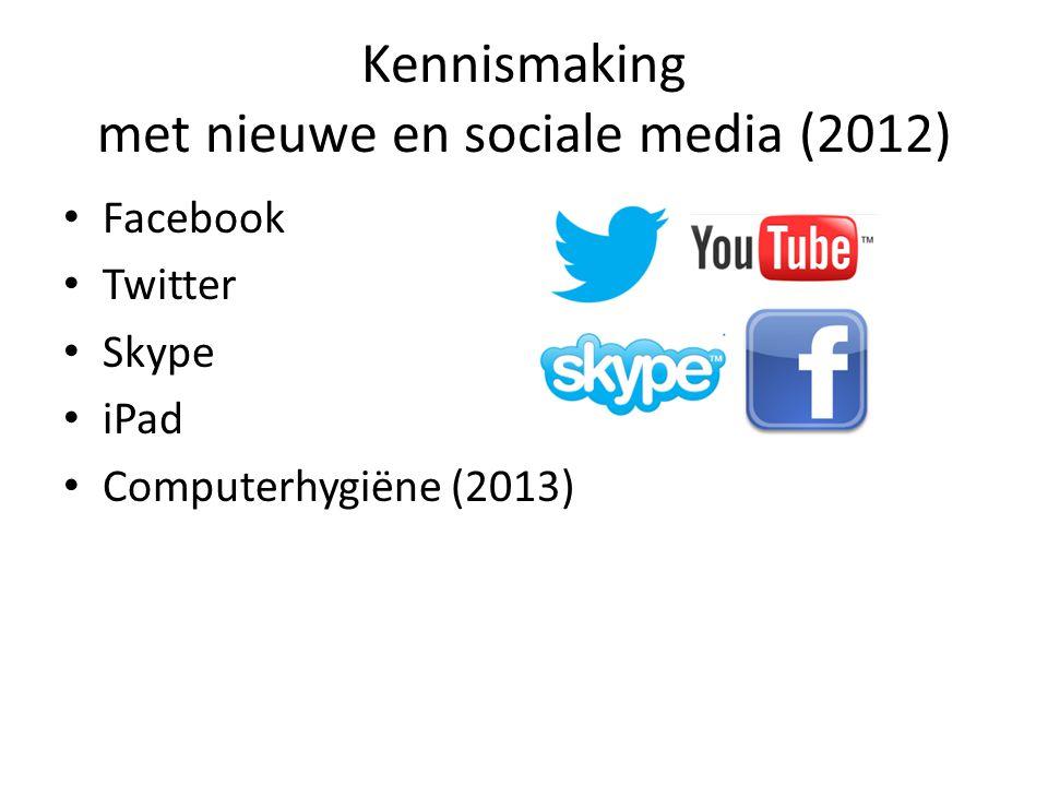 Kennismaking met nieuwe en sociale media (2012)