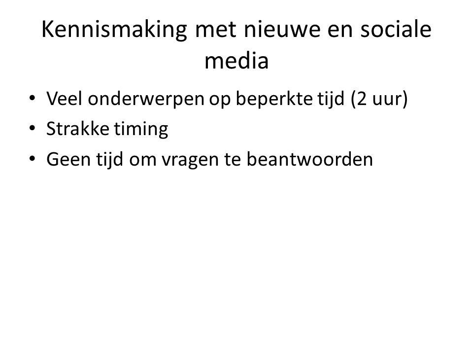 Kennismaking met nieuwe en sociale media