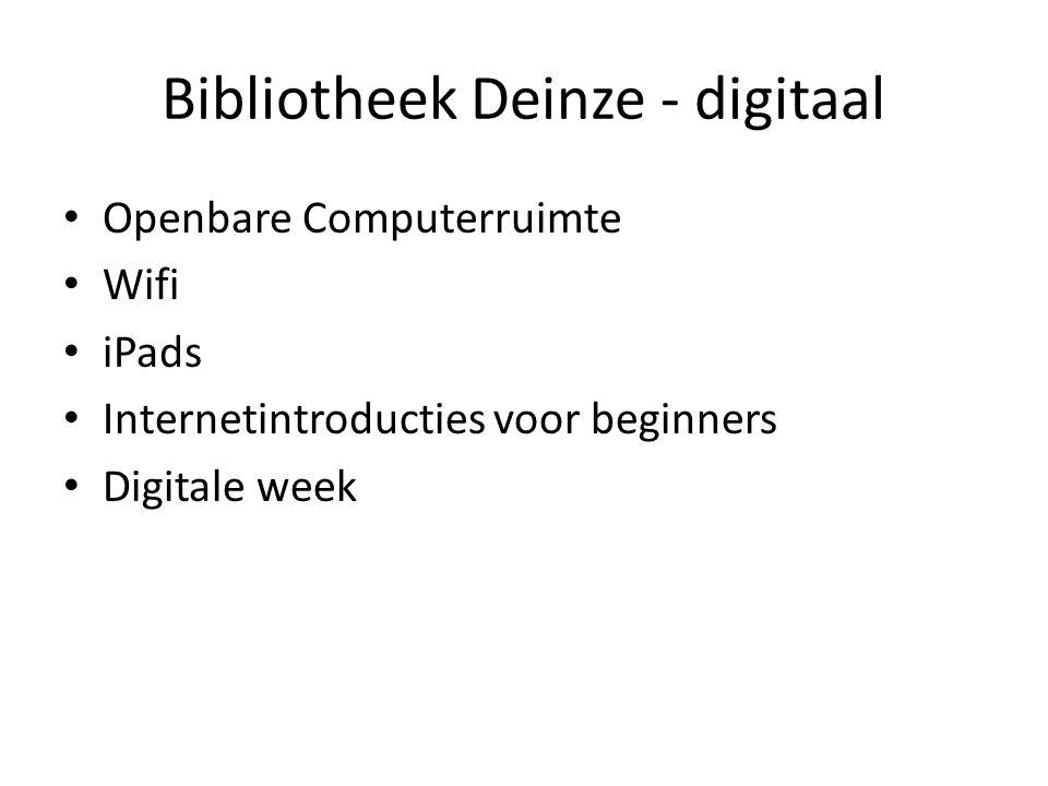 Bibliotheek Deinze - digitaal