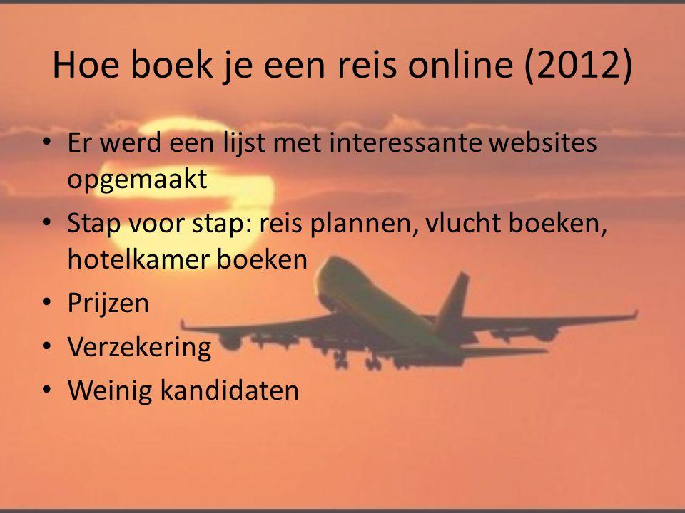 Hoe boek je een reis online (2012)