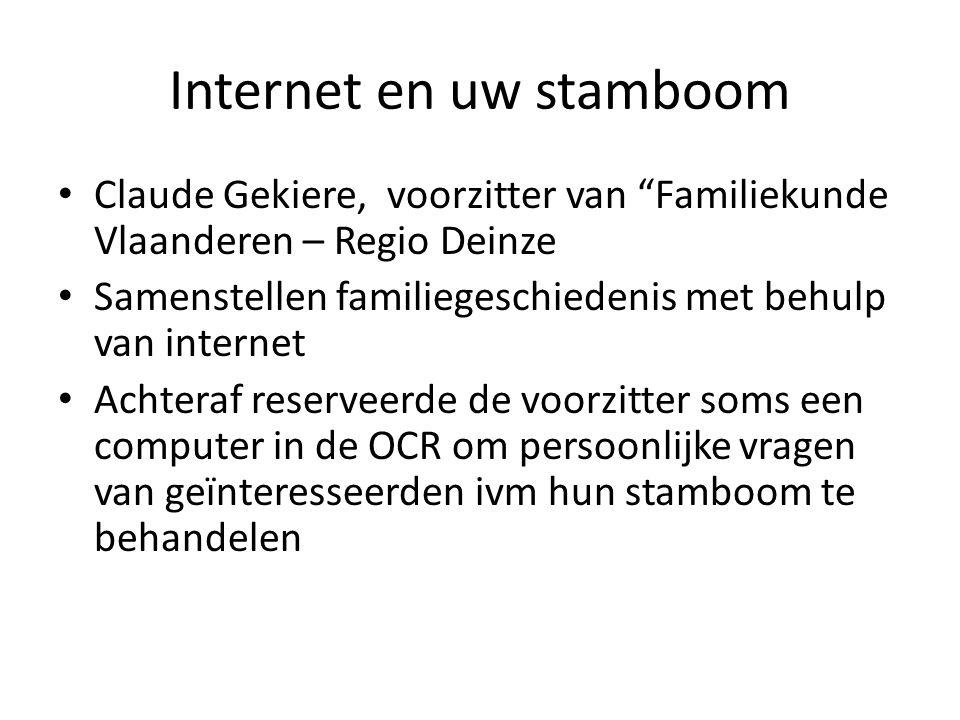 Internet en uw stamboom