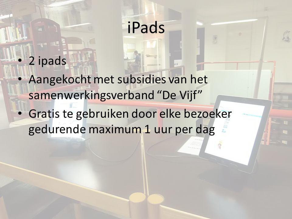 iPads 2 ipads. Aangekocht met subsidies van het samenwerkingsverband De Vijf