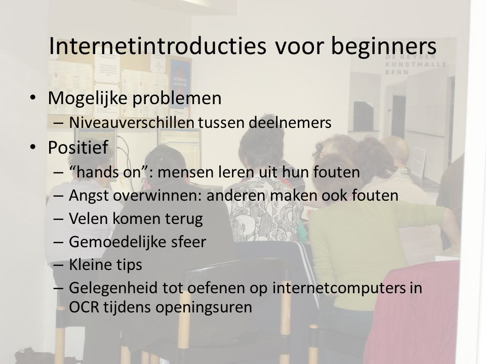Internetintroducties voor beginners