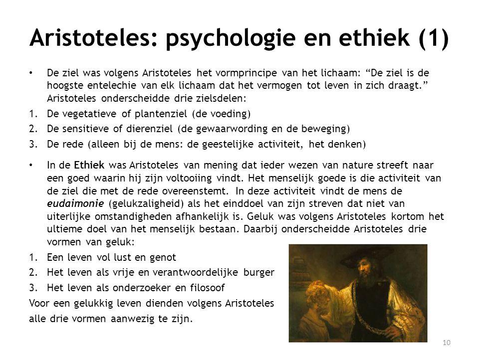 Aristoteles: psychologie en ethiek (1)