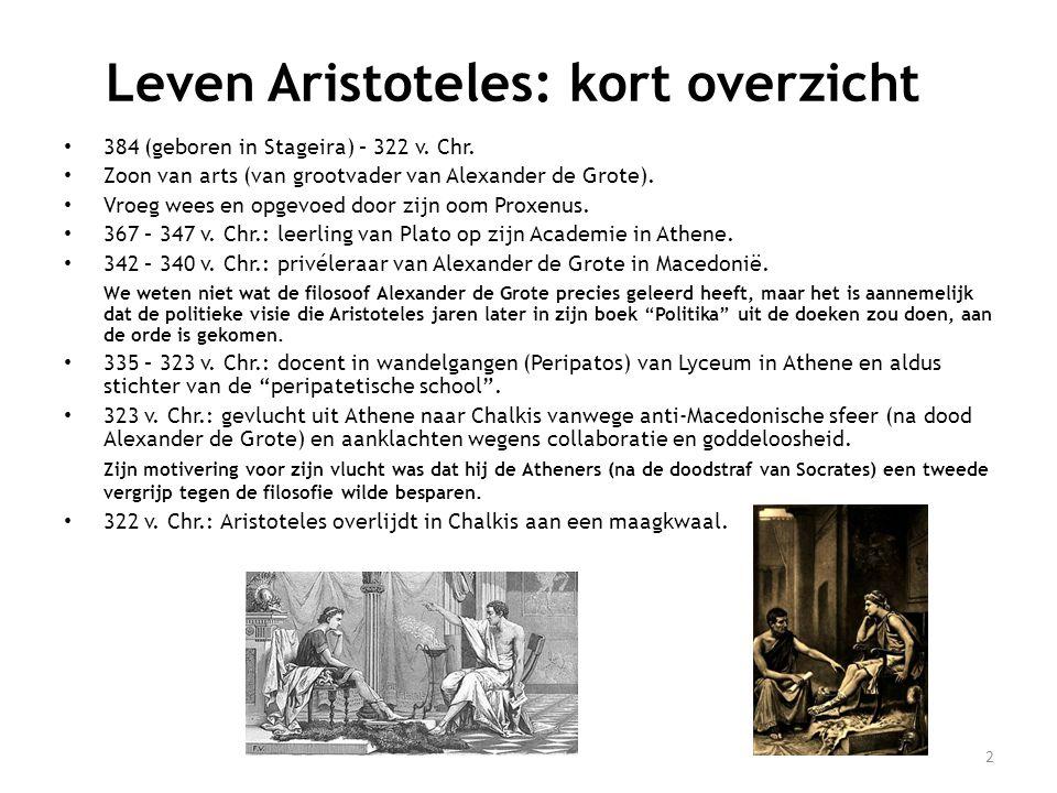 Leven Aristoteles: kort overzicht