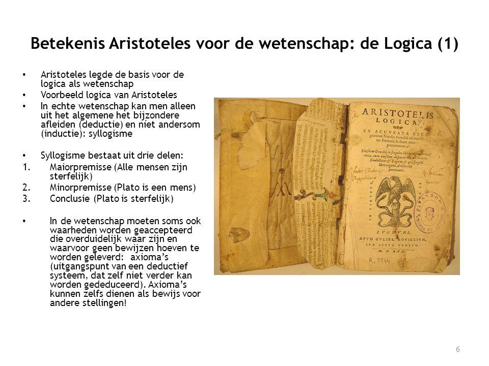 Betekenis Aristoteles voor de wetenschap: de Logica (1)