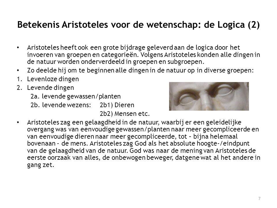 Betekenis Aristoteles voor de wetenschap: de Logica (2)