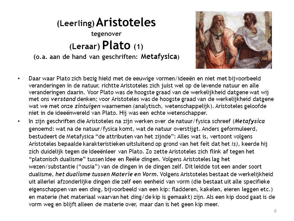 (Leerling) Aristoteles tegenover (Leraar) Plato (1) (o. a