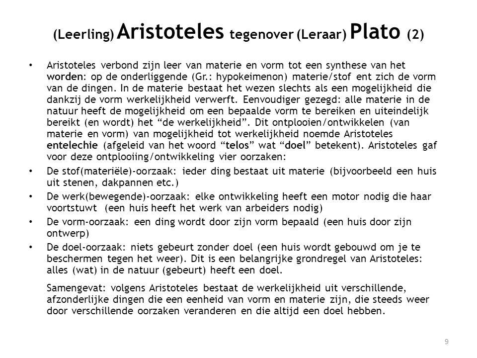 (Leerling) Aristoteles tegenover (Leraar) Plato (2)