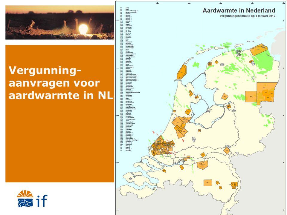 Vergunning-aanvragen voor aardwarmte in NL