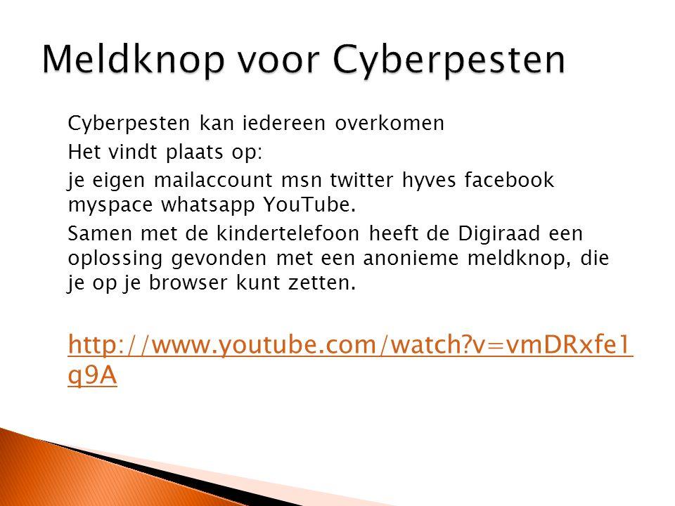 Meldknop voor Cyberpesten