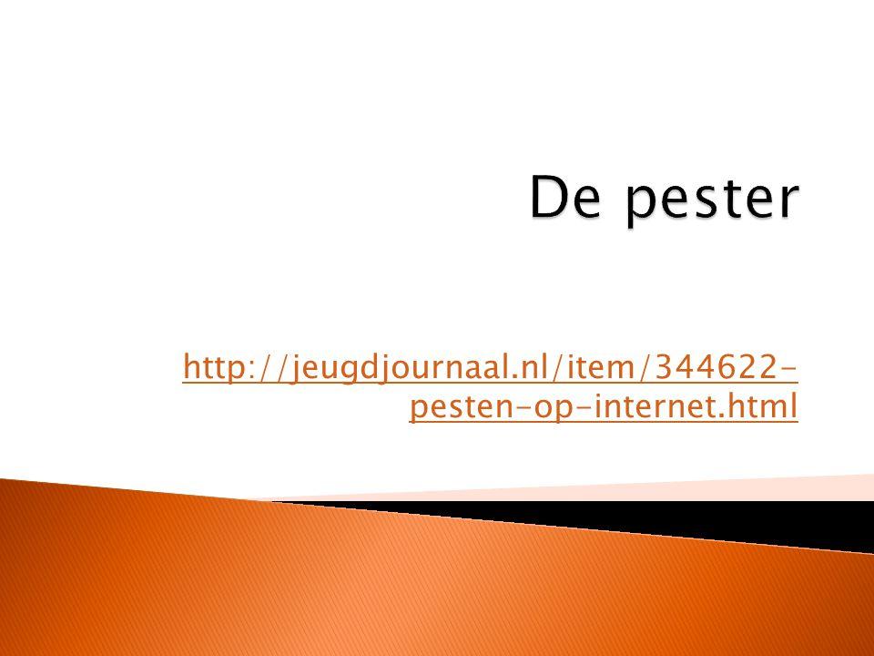 http://jeugdjournaal.nl/item/344622- pesten-op-internet.html