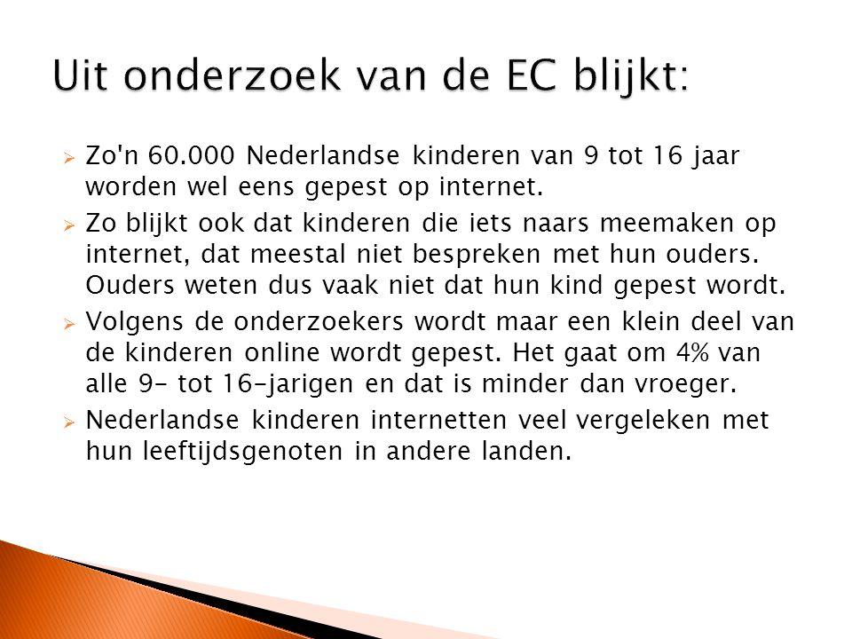 Uit onderzoek van de EC blijkt: